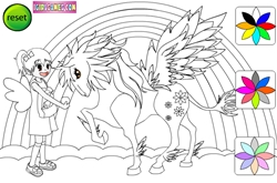Winged pony coloring game